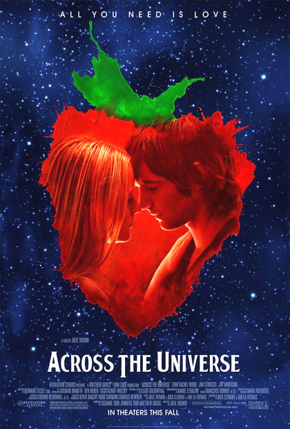Locandina Manifesto del film ''Across the Universe''