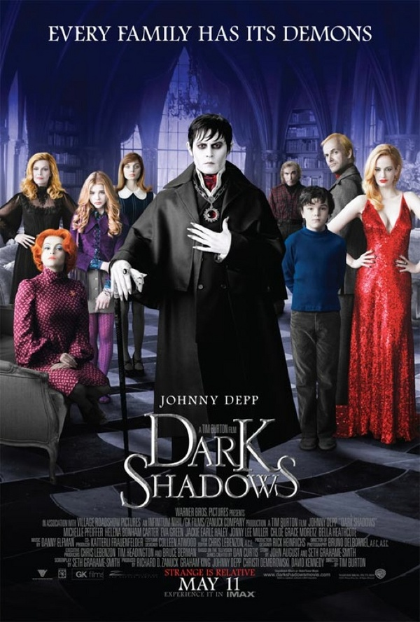 Locandina Manifesto del film ''Dark Shadows''