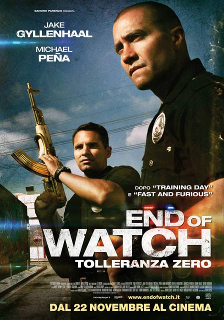 Locandina Manifesto del film ''End of Watch - Tolleranza Zero''