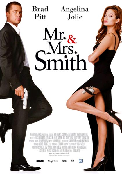 Locandina Manifesto del film ''Mr. & Mrs. Smith''
